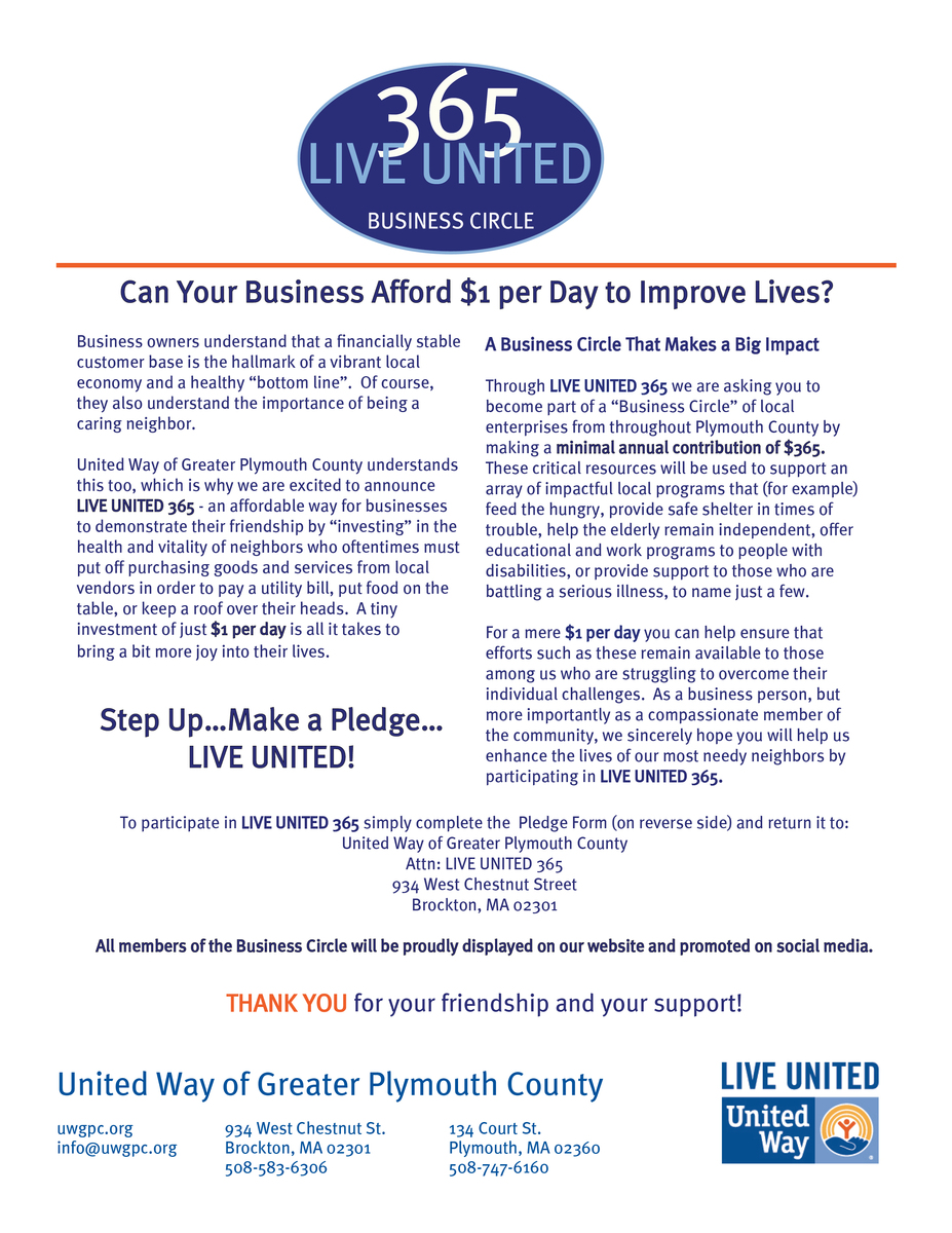 LIVE UNITED 365 | United Way of Greater Plymouth County